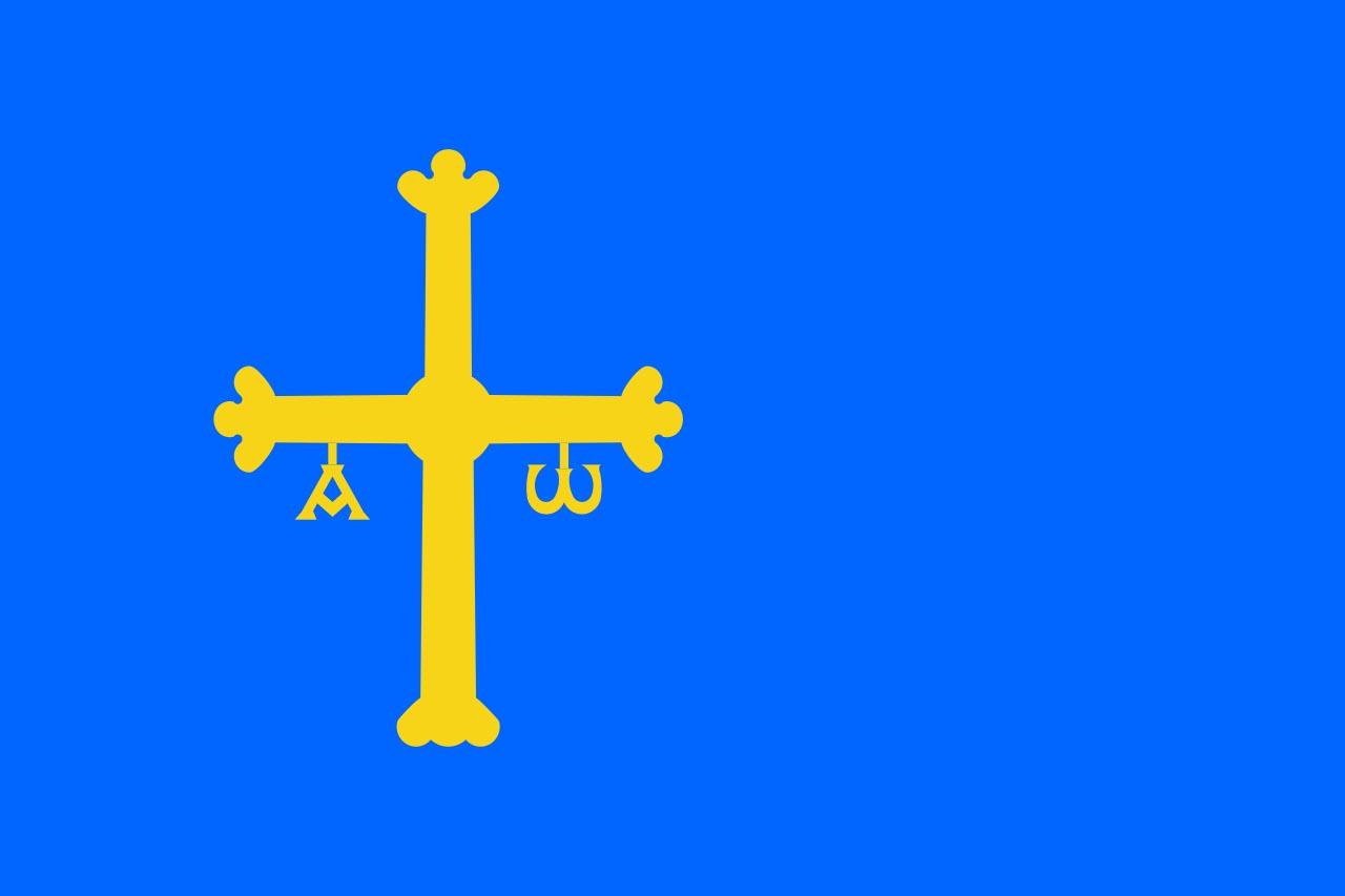 Флаг провинции Астурия (Asturias)