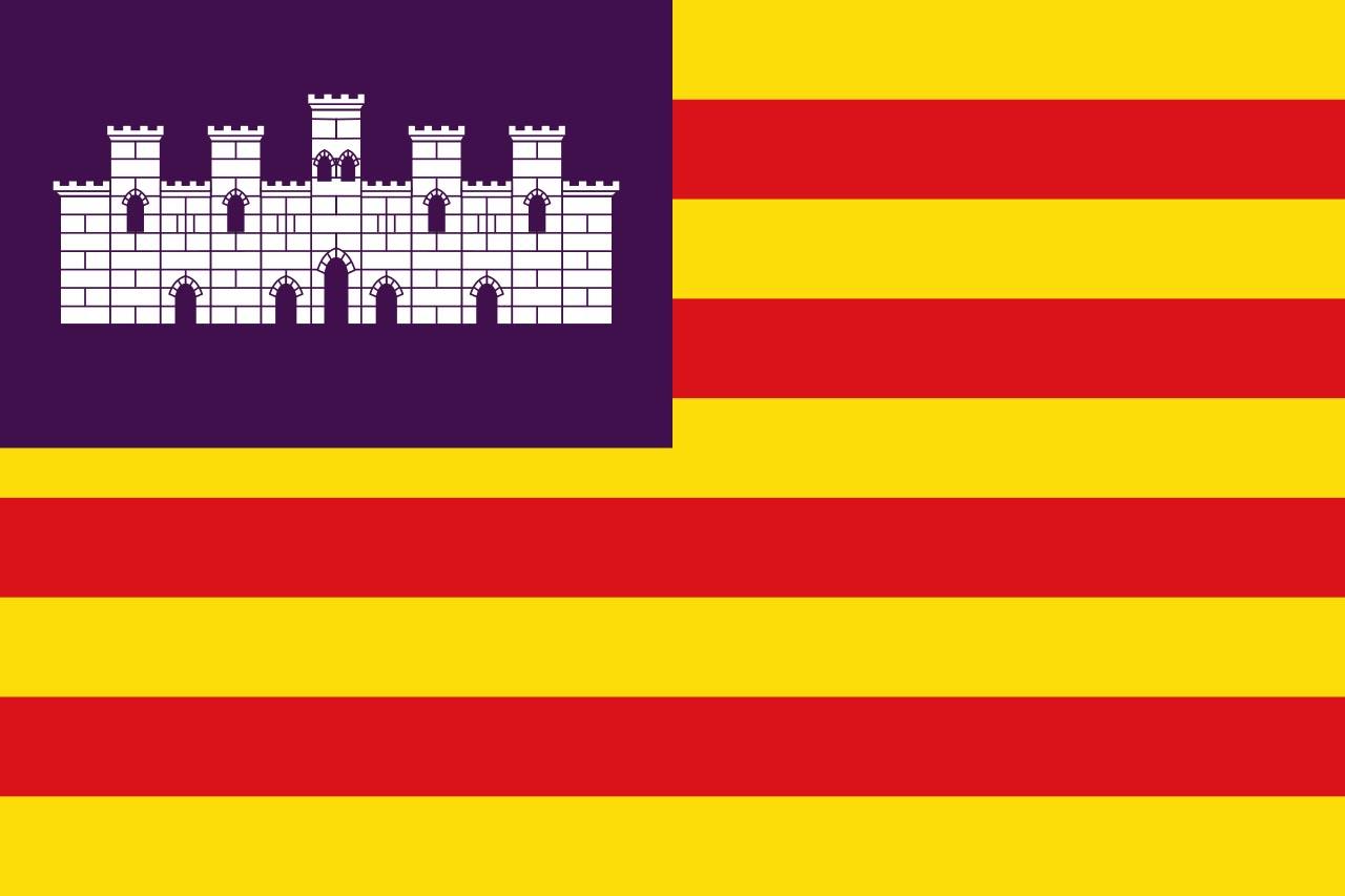 Флаг провинции Балеарские острова (Baleares)