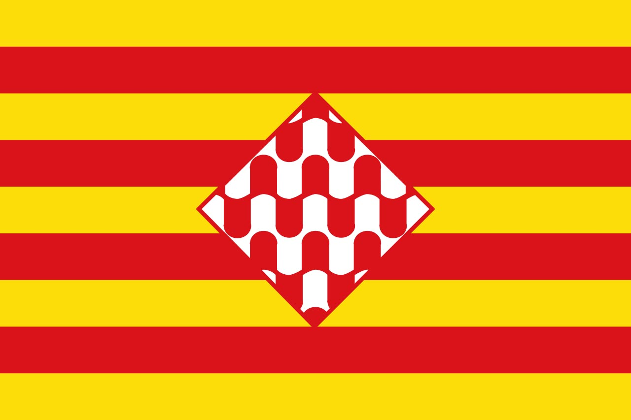 Флаг провинции Жирона (Gerona)