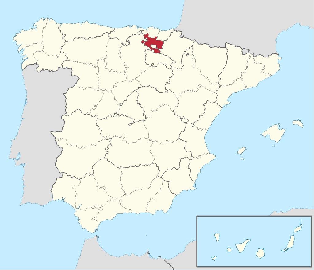 Провинция Алава (Álava) на карте �спании
