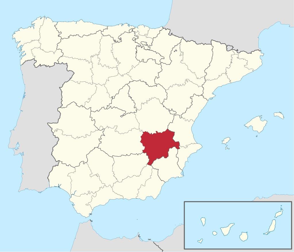 Провинция Альбасете (Albacete) на карте �спании