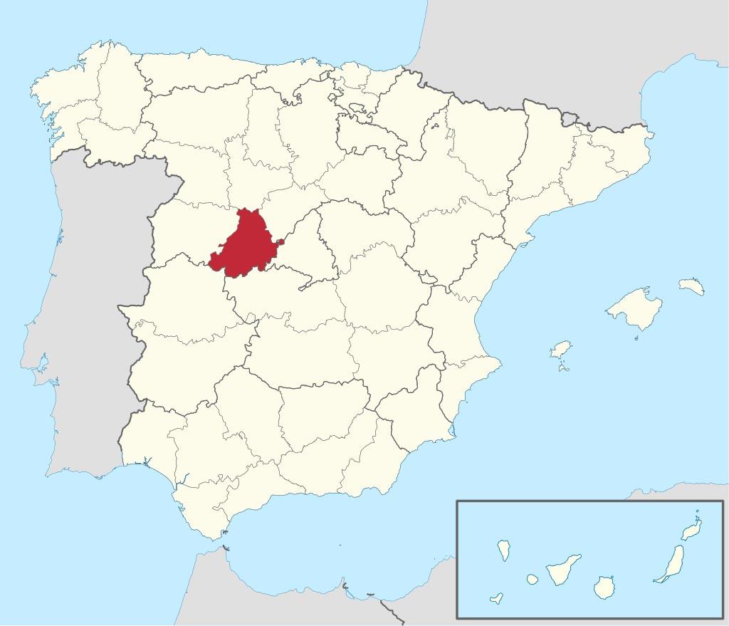 Провинция Авила (Ávila) на карте �спании