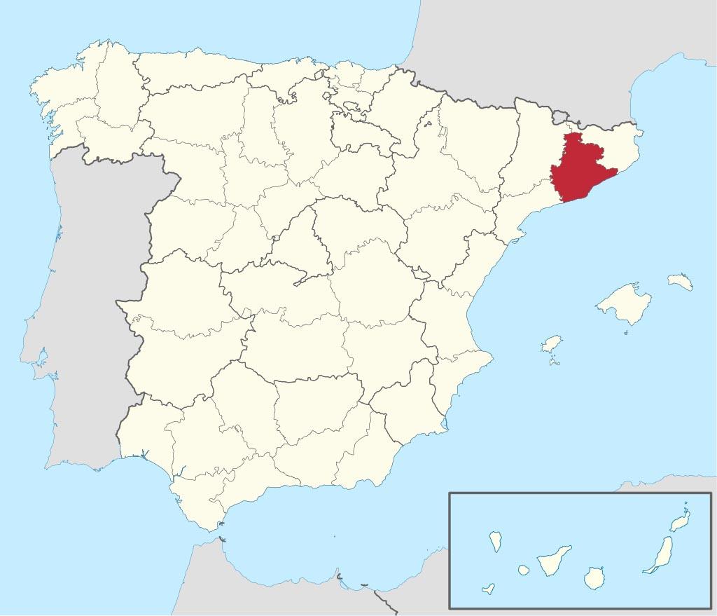 Провинция Барселона (Barcelona) на карте �спании