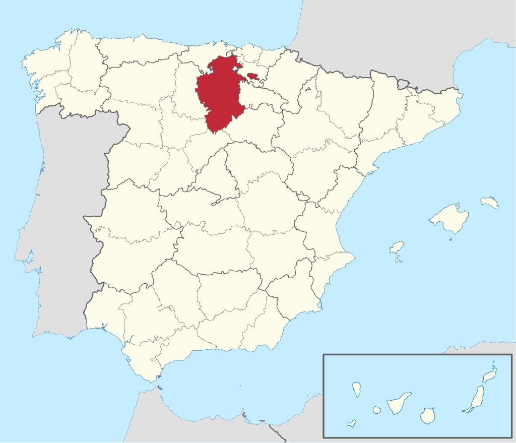 Провинция Бургос (Burgos) на карте �спании
