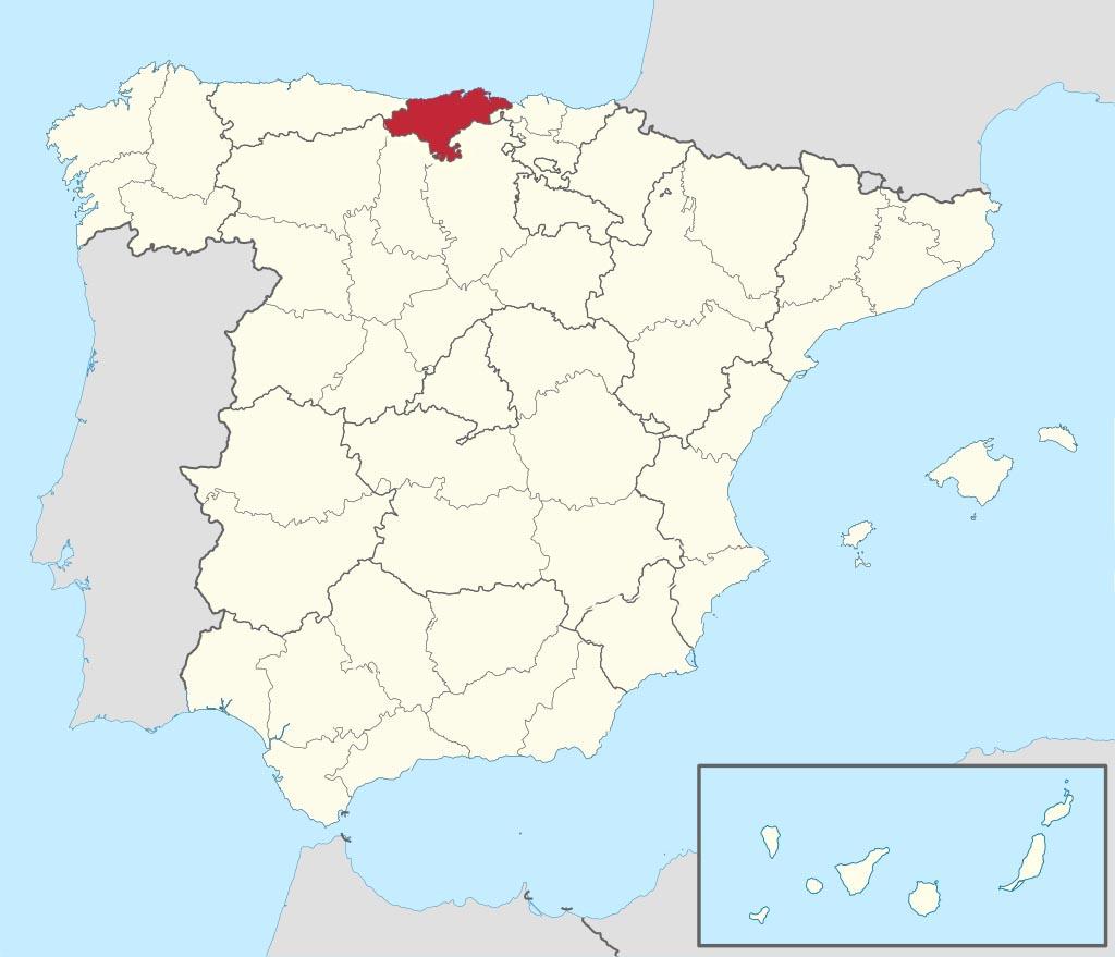 Провинция Кантабрия (Cantabria) на карте �спании