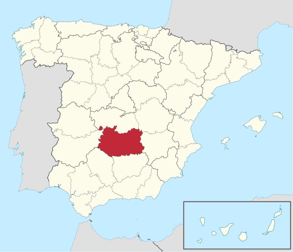 Провинция Сьюдад-Реаль (Ciudad Real) на карте �спании