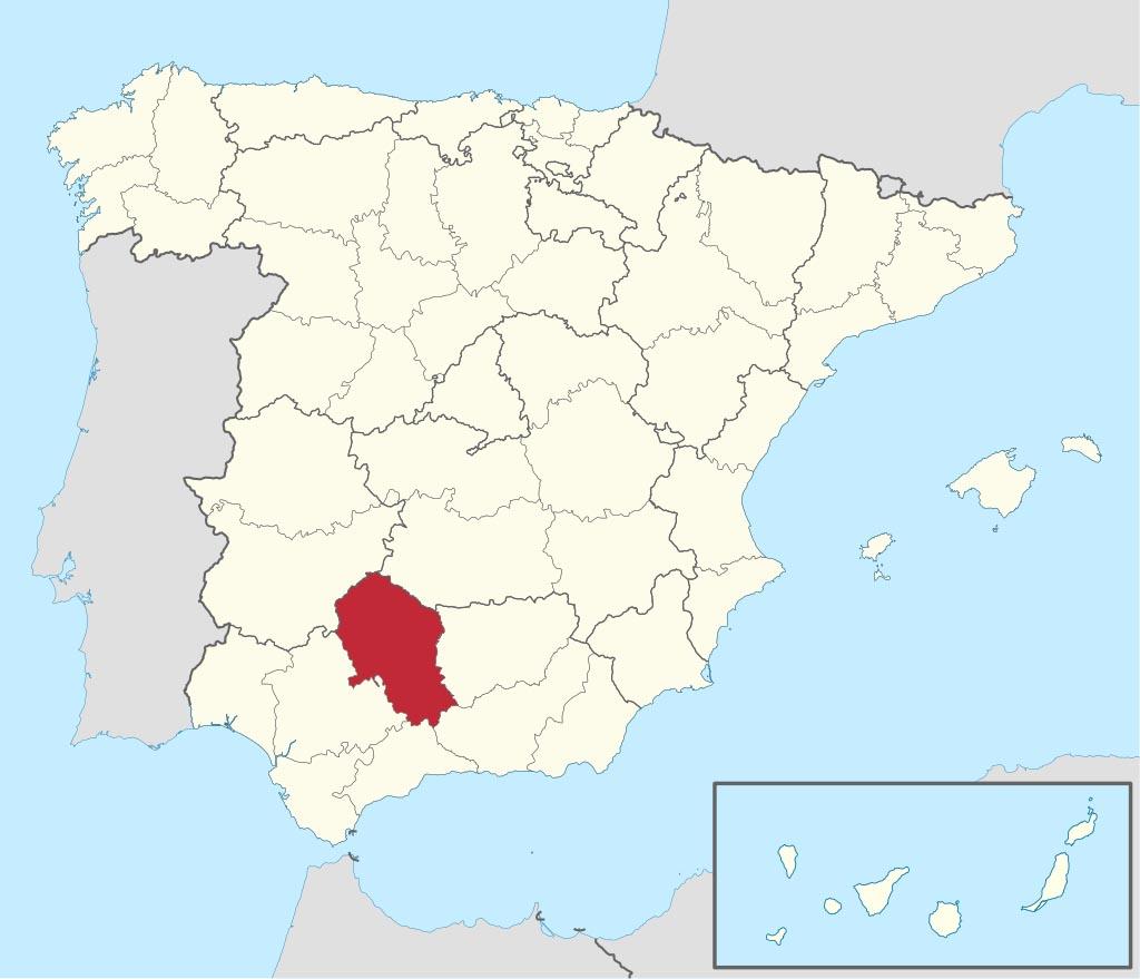 Провинция Кордова (Córdoba) на карте �спании