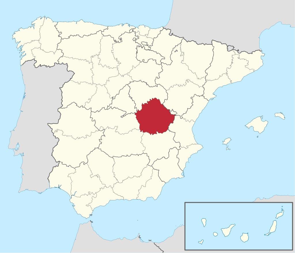 Провинция Куэнка (Cuenca) на карте �спании