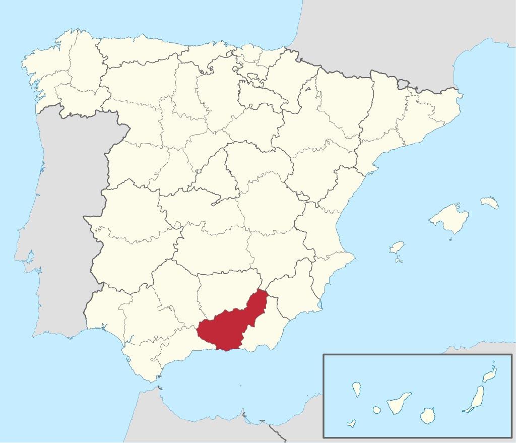 Провинция Гранада (Granada) на карте �спании