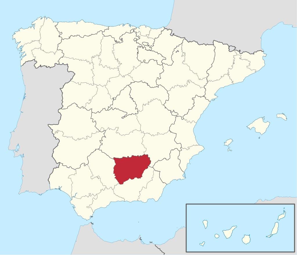 Провинция Хаэн (Jaén) на карте �спании