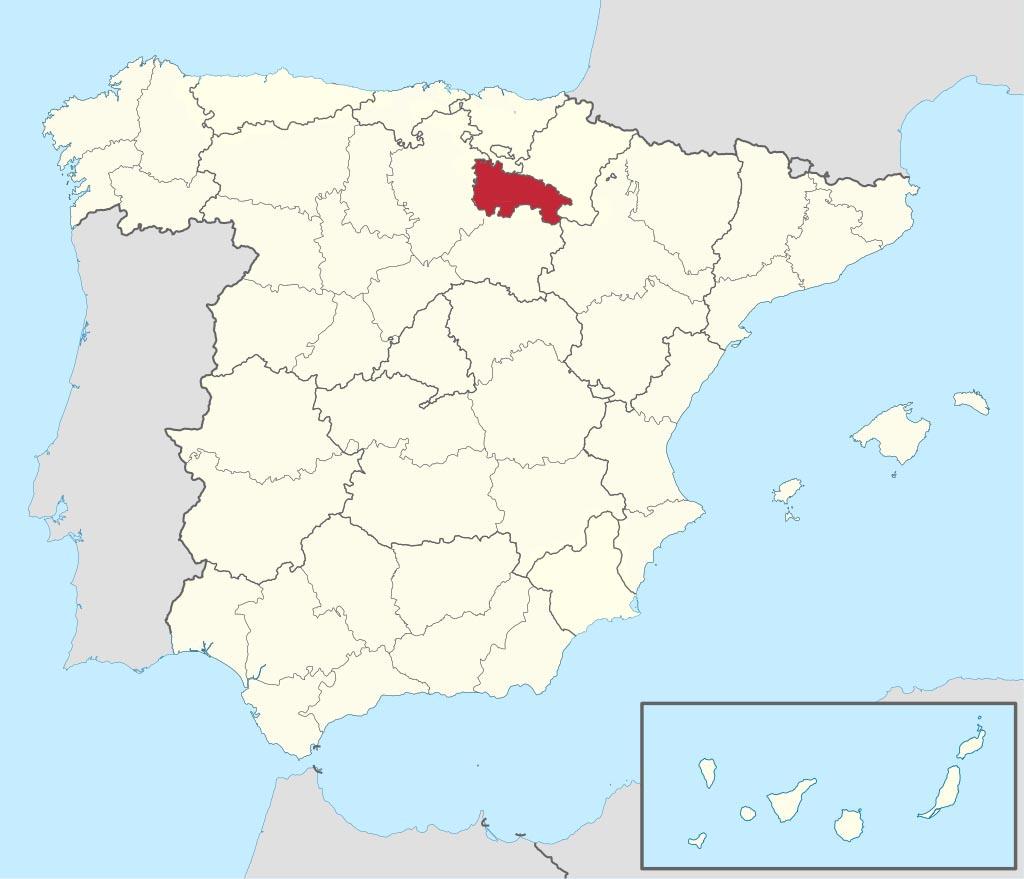 Провинция Ла-Риоха (La Rioja) на карте �спании