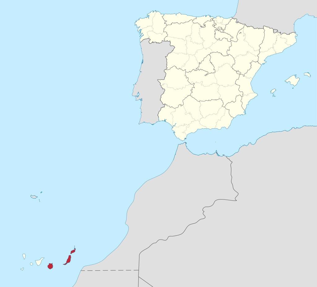 Провинция Лас-Пальмас (Las Palmas) на карте �спании
