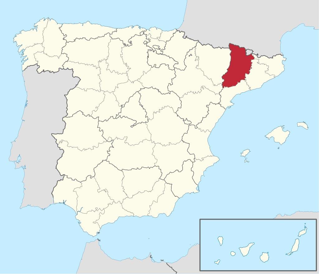 Провинция Льейда (Lérida) на карте �спании
