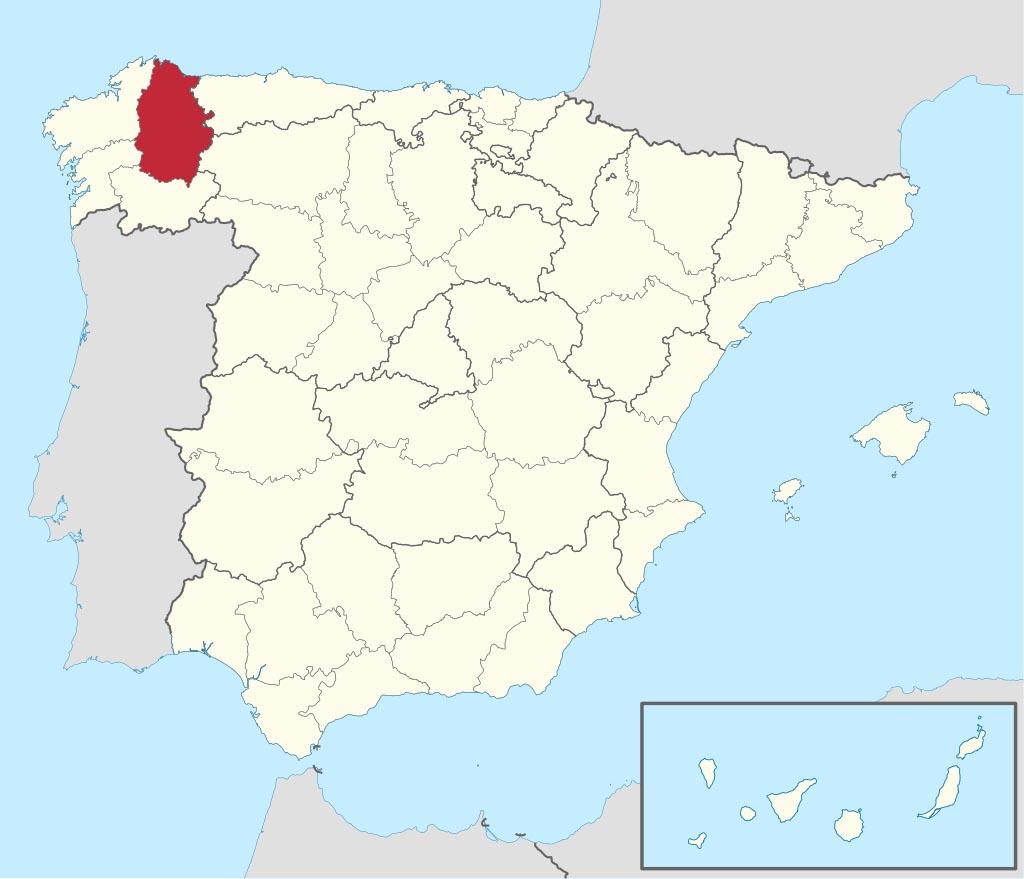 Провинция Луго (Lugo) на карте �спании