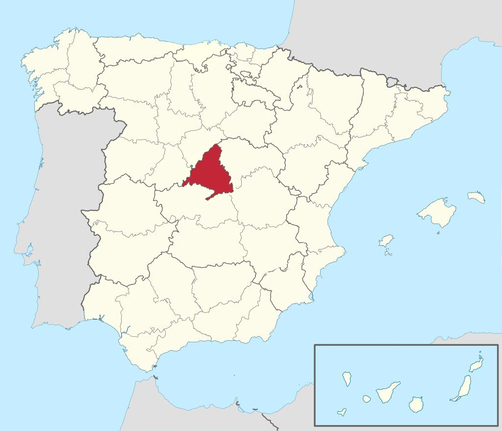 Провинция Мадрид (Madrid) на карте �спании