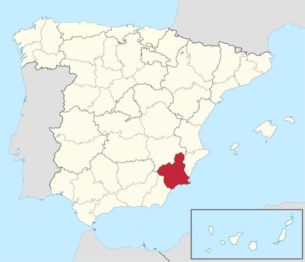 Провинция Мурсия (Murcia) на карте �спании