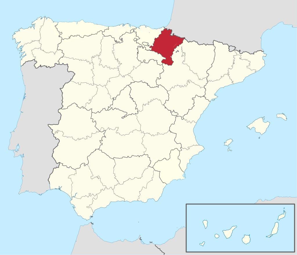 Провинция Наварра (Navarra) на карте �спании