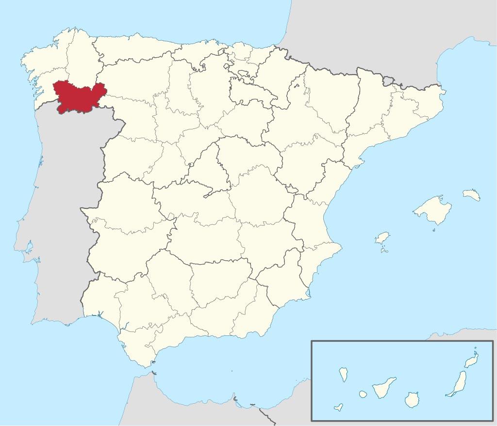 Провинция Оренсе (Orense) на карте �спании