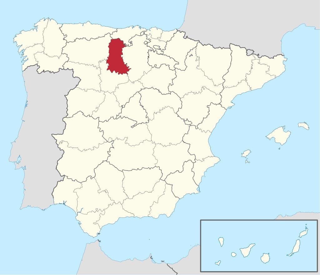 Провинция Паленсия (Palencia) на карте �спании