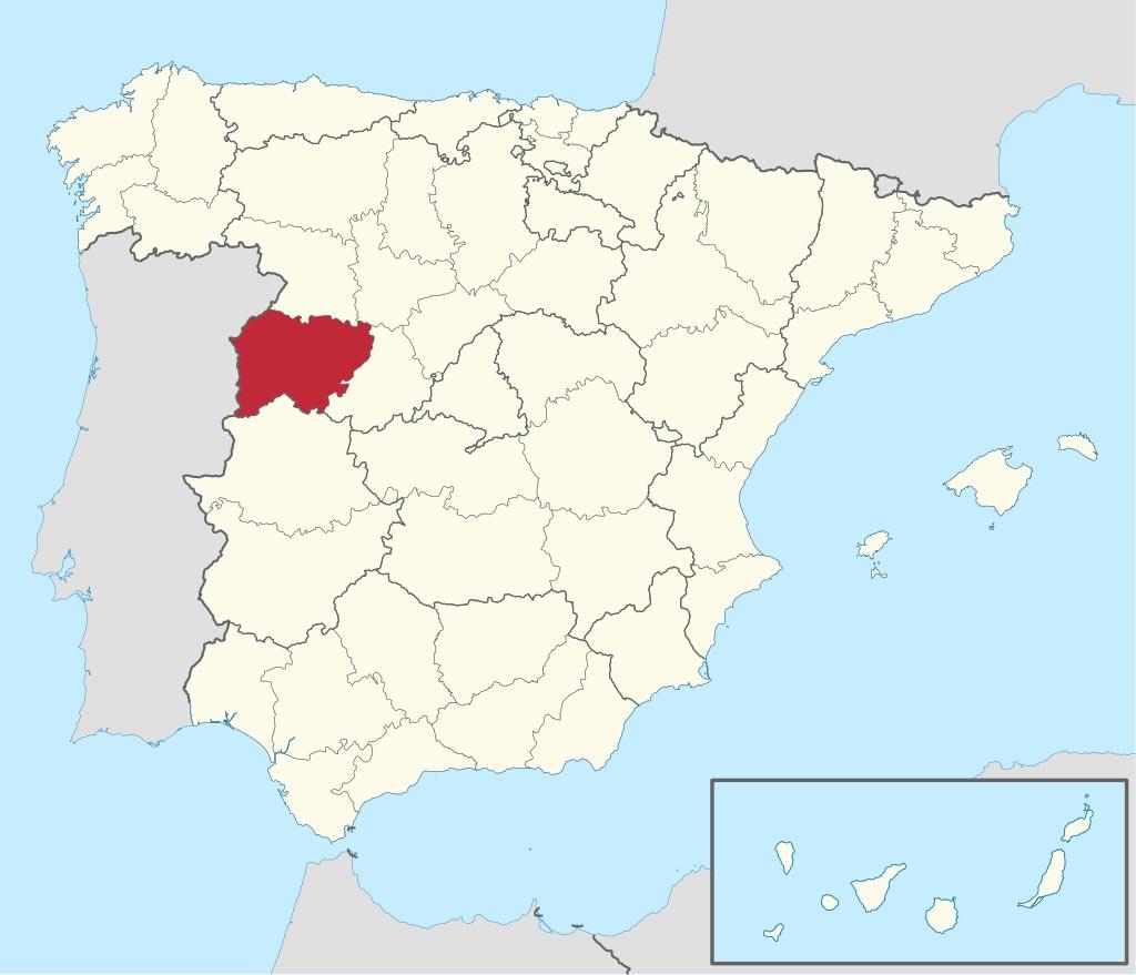 Провинция Саламанка (Salamanca) на карте �спании