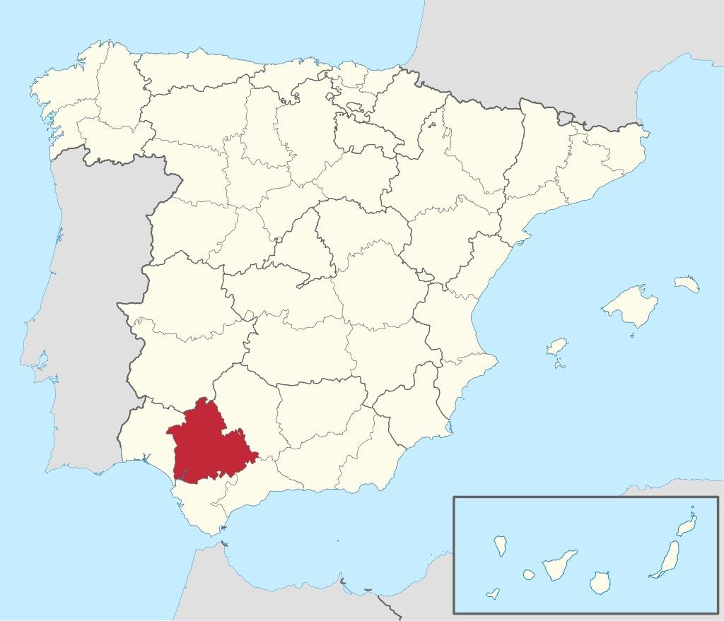 Провинция Севилья (Sevilla) на карте �спании