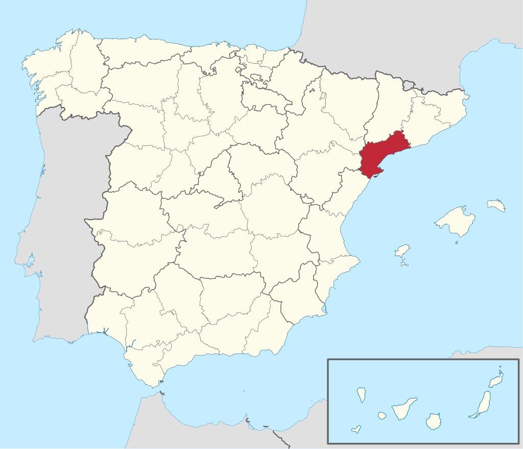 Провинция Таррагона (Tarragona) на карте �спании