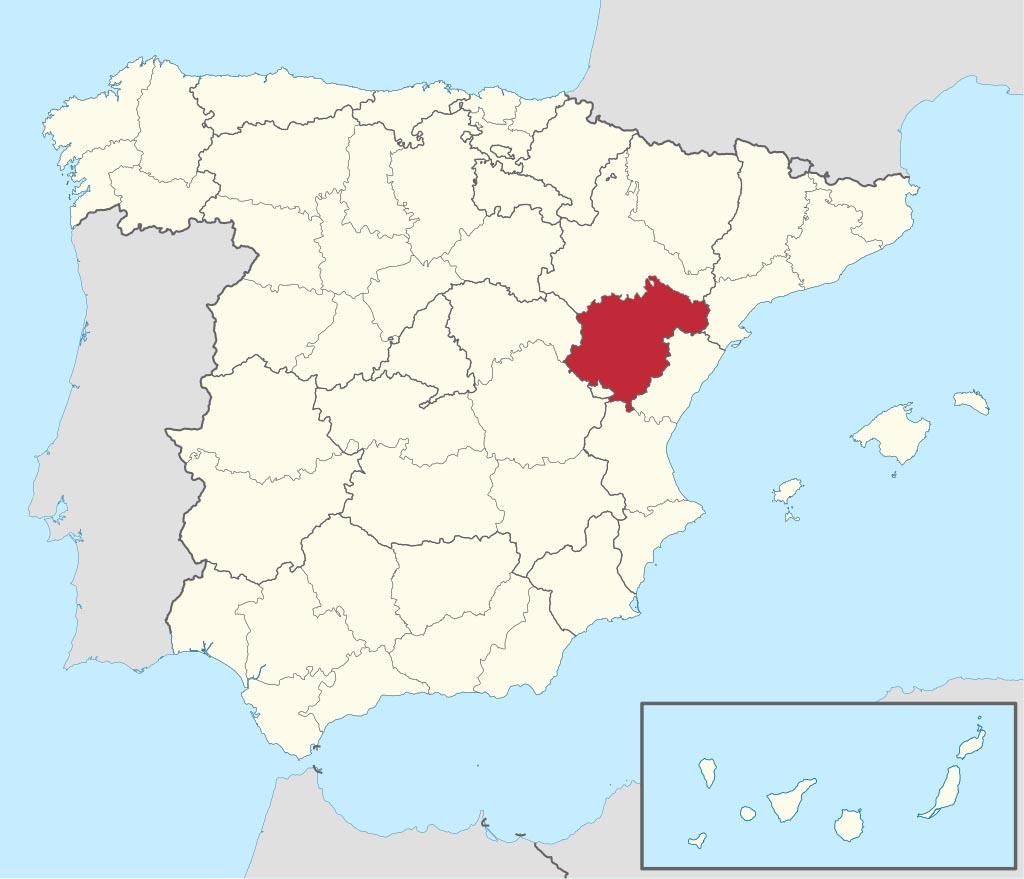 Провинция Теруэль (Teruel) на карте �спании
