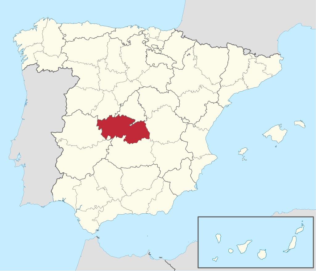 Провинция Толедо (Toledo) на карте �спании