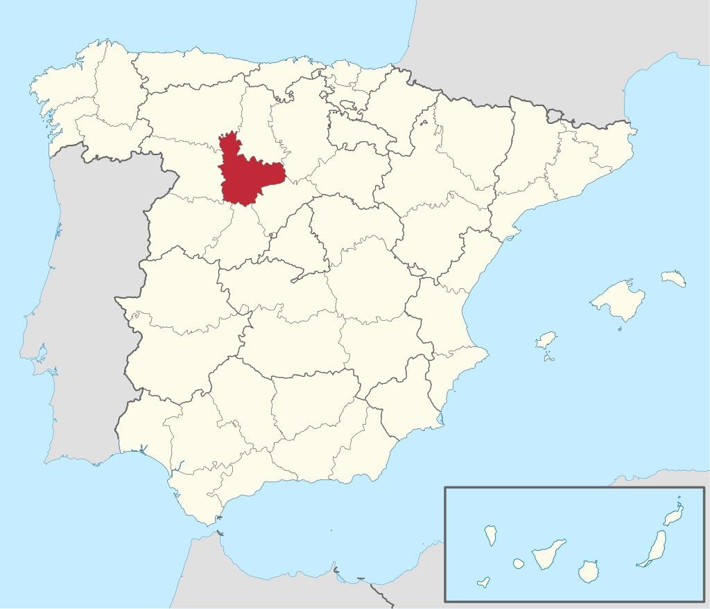 Провинция Вальядолид (Valladolid) на карте �спании