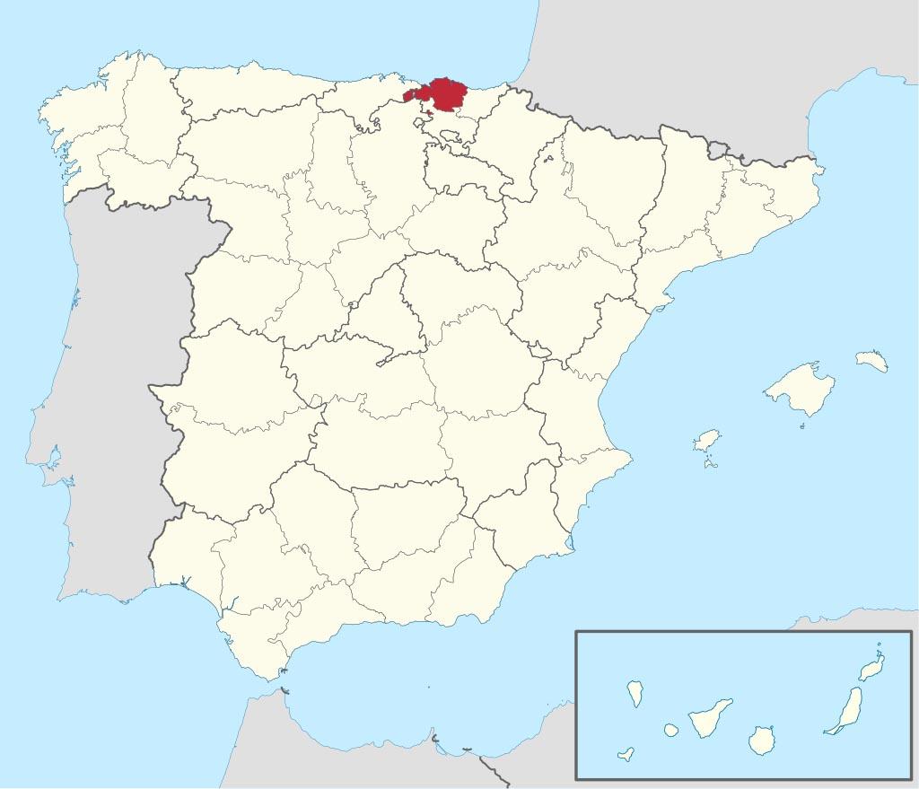 Провинция Бискайя  (Vizcaya) на карте �спании