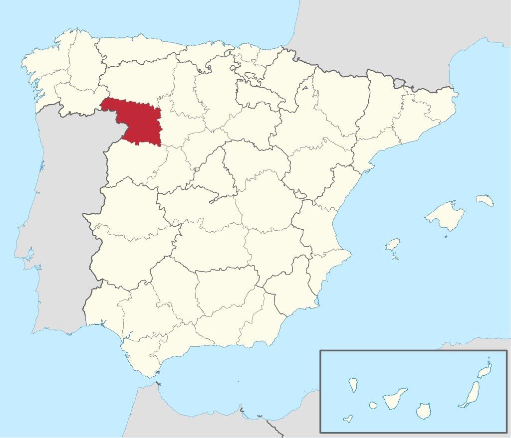 Провинция Самора (Zamora) на карте �спании