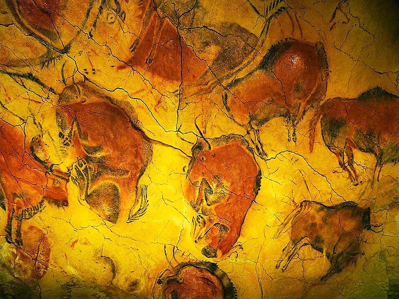 Наскальная живопись  в пещерах Альтамиры (�спания)