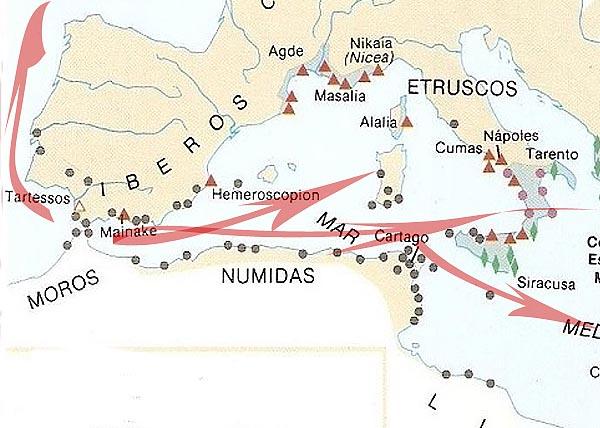 Направления внешней торговли Тартесса
