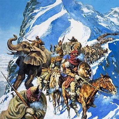 Переправа карфагенских войск через Альпы