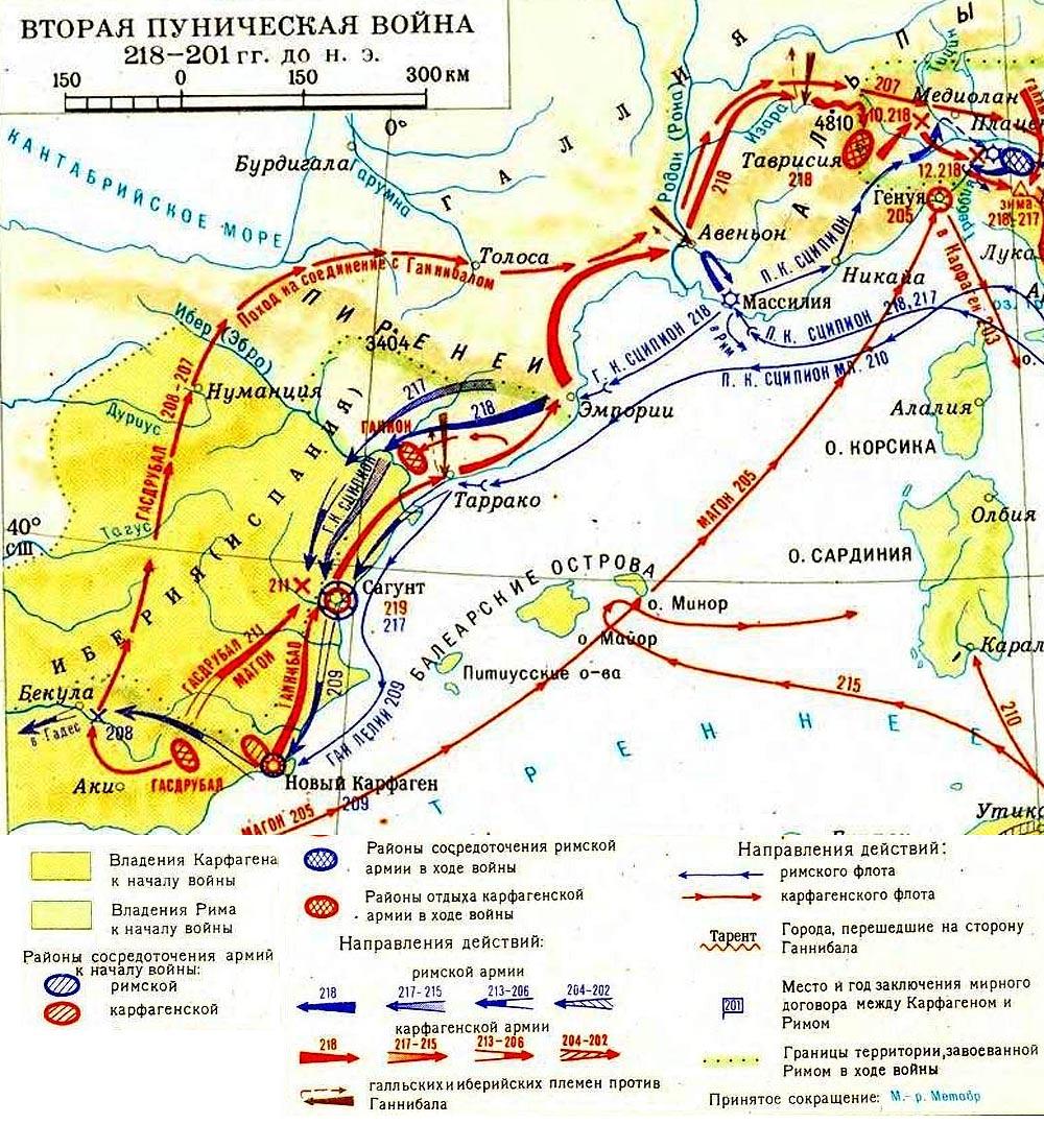 Вторжение Рима на территорию �спании в 218 - 215 г.г. до н.э.
