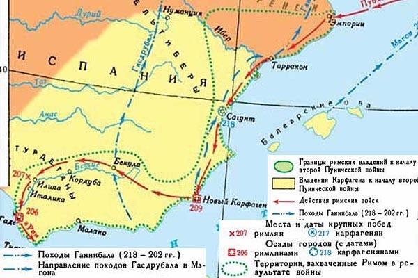 Завоевание Южной �спании (208 - 204 г.г. до н.э.)