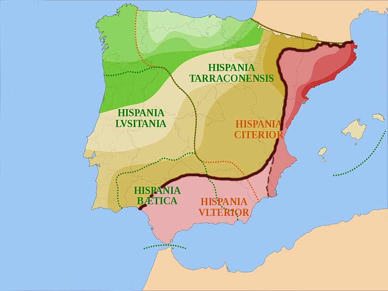 �спанские провинции Древнего Рима к началу II в. до н.э.