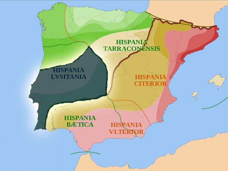 Владения Рима после Лузитанской войны в 139 г. до н.э.