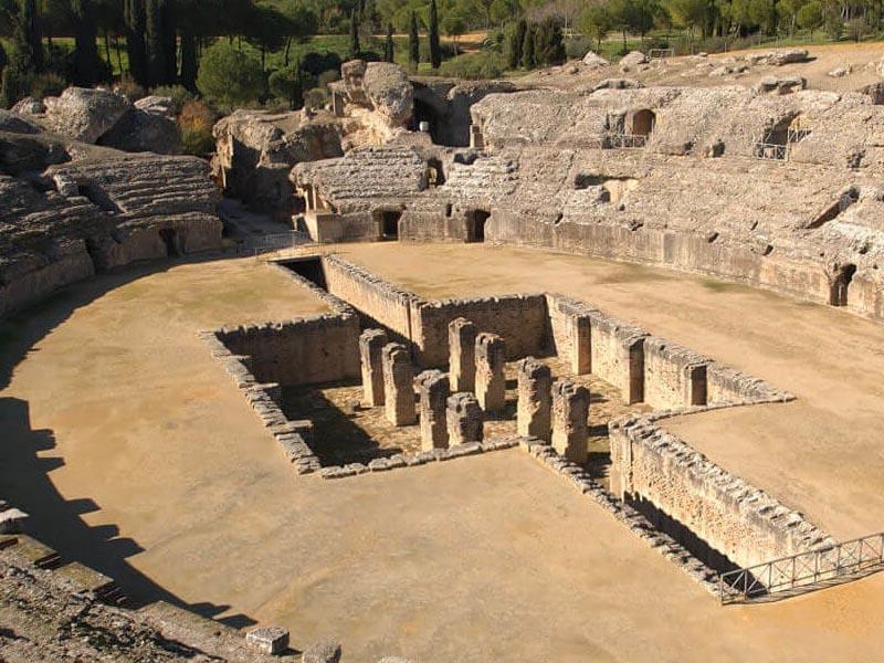 Останки �талики - первого основанного римлянами поселения на юге �спании