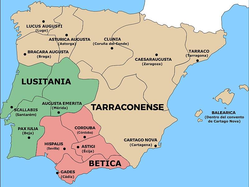 Административно-территориальное устройство �спании к I в. н.э.