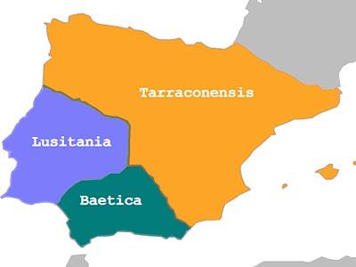 �спанские провинции в составе Римской империи в I в.