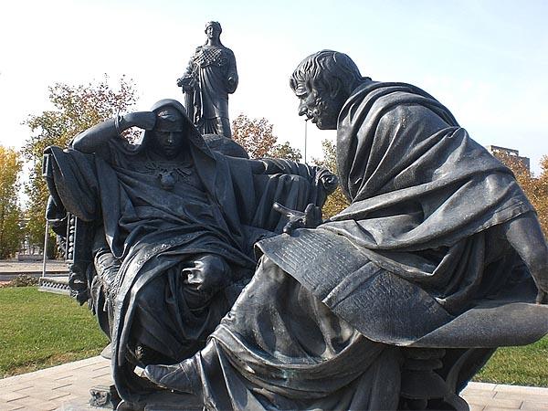 �мператор Нерон и Сенека, памятник в Кордове, �спания