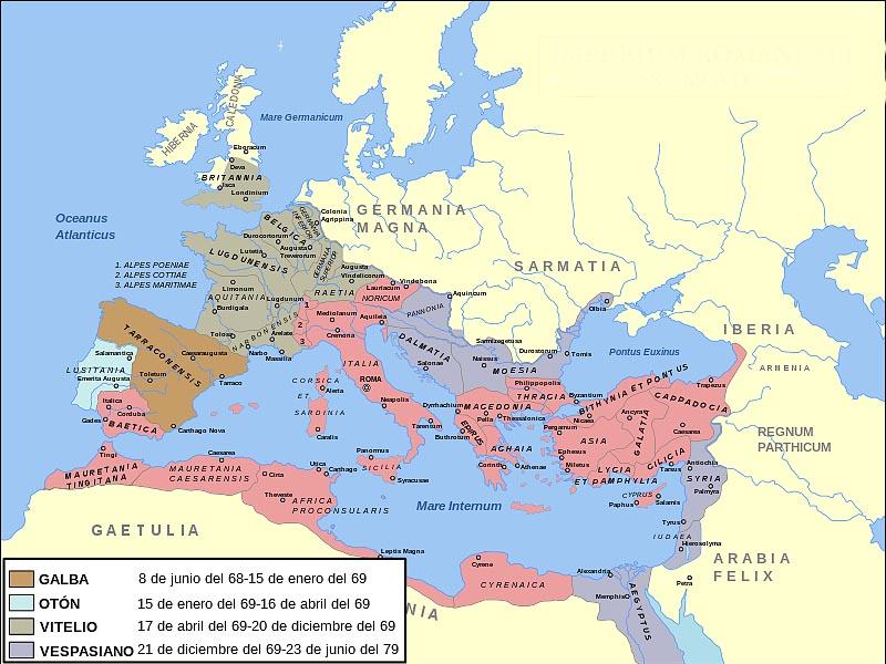 �спания в составе Римской империи в I в. н.э.