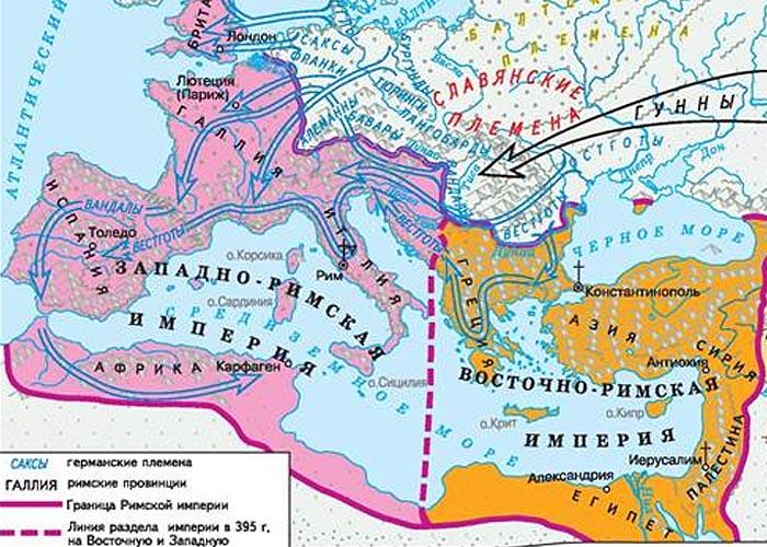 Вторжение варварских племен в Римскую империю