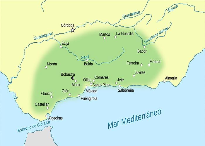 Территория, охваченная восстанием под руководством Омара ибн Хафсуна