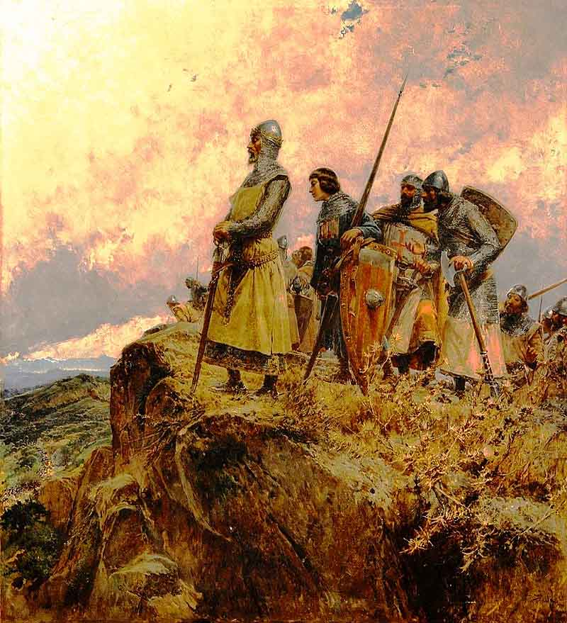 Педро III Великий  у перевала Паниссар