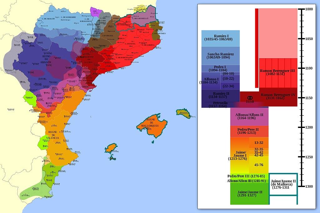 Экспансия соседних земель Королевством Арагон в XI - XIV в.в.