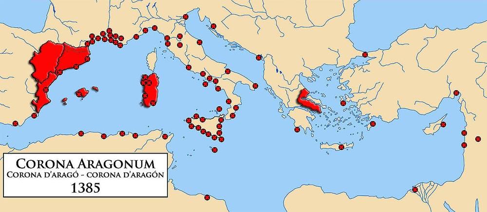 Королевство Арагон  в 1385 г.