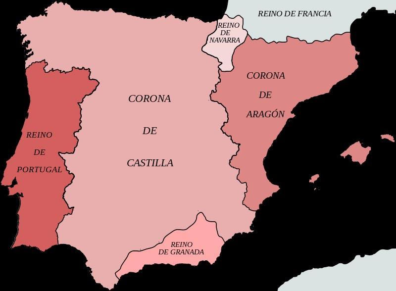 Государства Пиренейского полуострова в 1400 г.