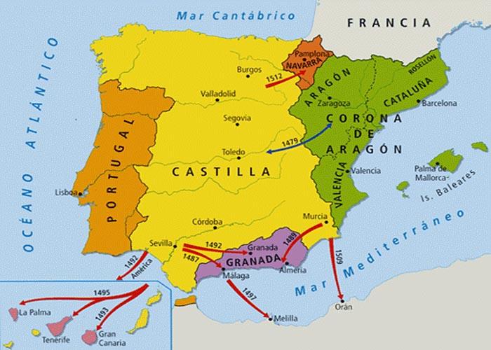 �спания к концу XV века